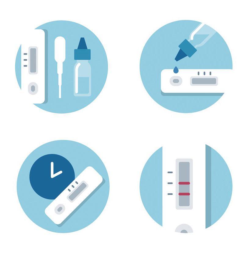 Coronavirus test kit contents